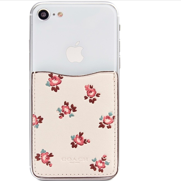 e8fc037b Coach iPhone floral Pocket Sticker Card Holder Boutique